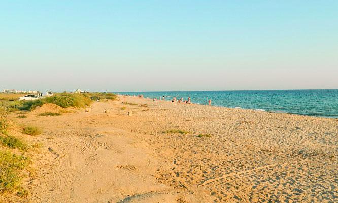 Заозерное Евпатория фото поселка и пляжа