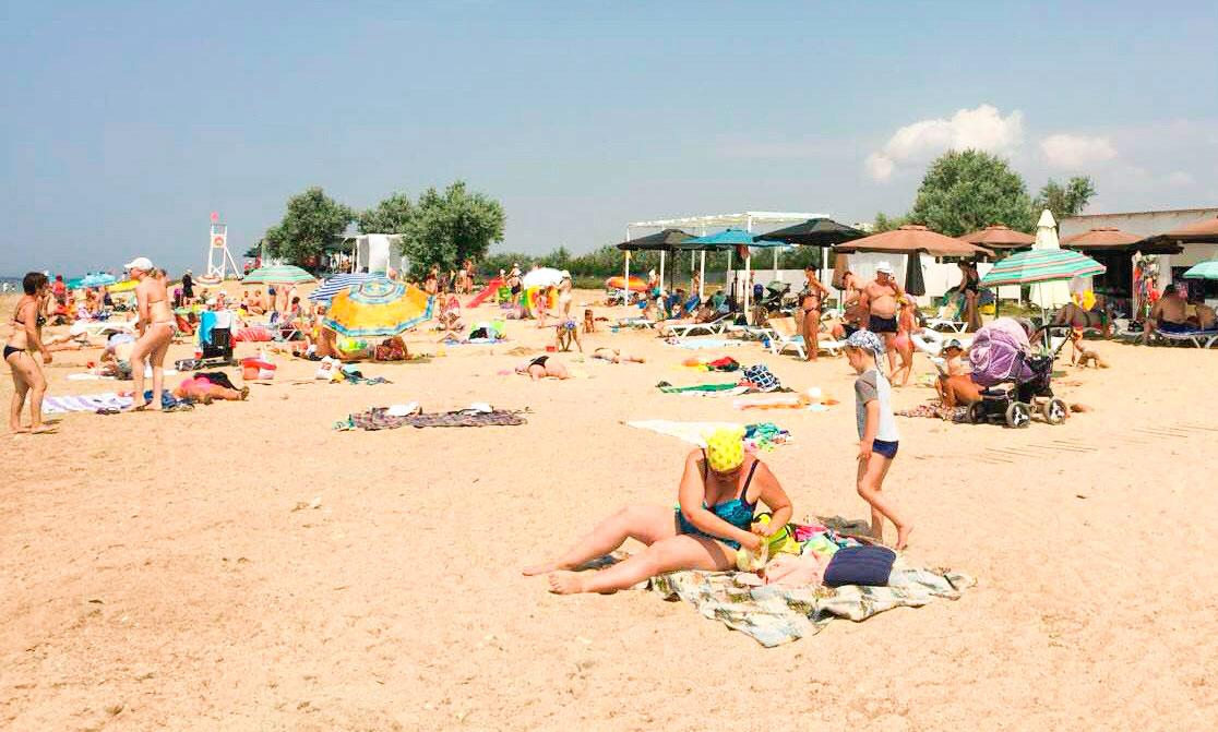 Заозерное собственный пляж