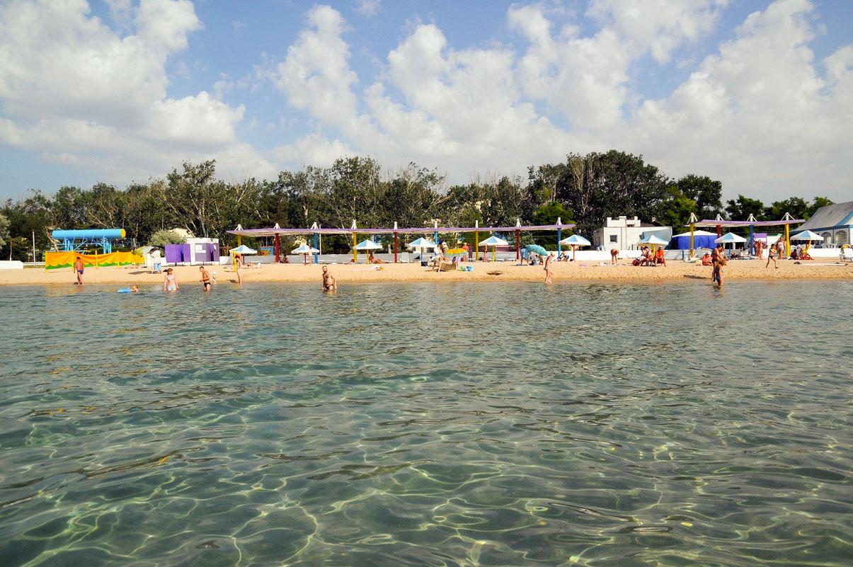 Заозерное Крым фото пляжа