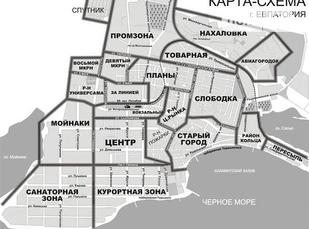 Схема Евпатории